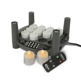 Rechargeable Candle Set 2.0 Timer - Starter Kit - Amber Tealights