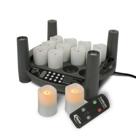 Rechargeable Candle Set 2.0 Timer - Starter Kit - Amber Votives