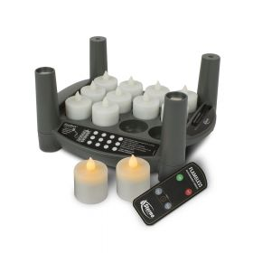 Rechargeable Candle Set 2.0 Timer - Amber Tealights
